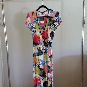 (nwt) Topshop Freya Bright Florals Wrap Dress